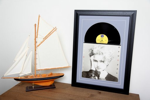12 inch Sleeve & Disc Black Frame Grey Mount